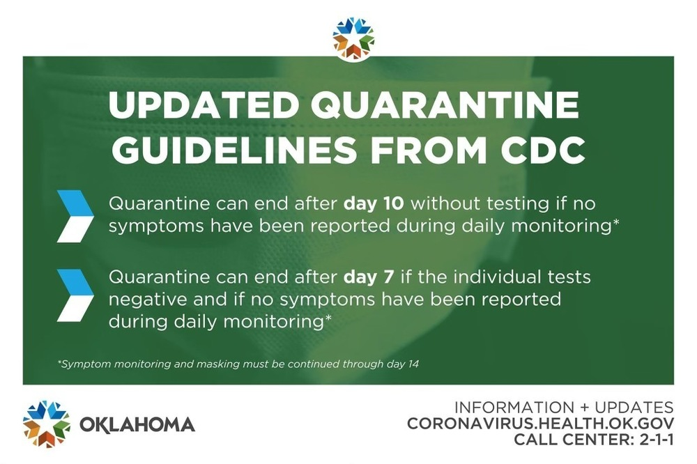 Update Quarantine Guidlines