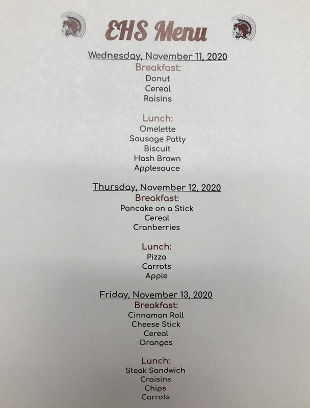 High School Menu Change